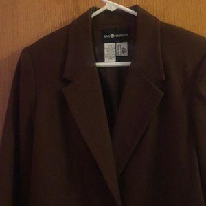 Sag Harbor Brown Wool Blazer